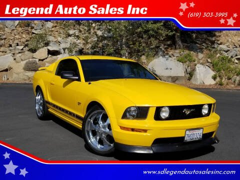 2005 Ford Mustang for sale at Legend Auto Sales Inc in Lemon Grove CA