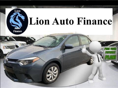 2015 Toyota Corolla for sale at Lion Auto Finance in Houston TX