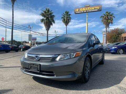 2012 Honda Civic for sale at A MOTORS SALES AND FINANCE - 6226 San Pedro Lot in San Antonio TX