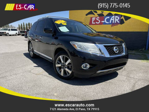 2015 Nissan Pathfinder for sale at Escar Auto - 9809 Montana Ave Lot in El Paso TX