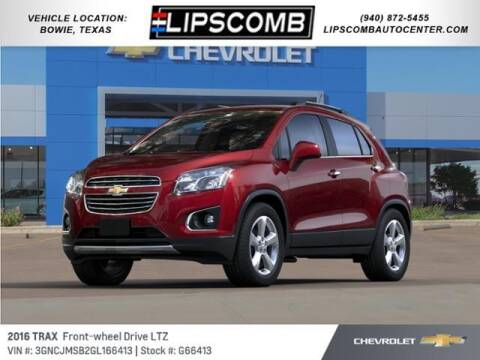 2016 Chevrolet Trax for sale at Lipscomb Auto Center in Bowie TX