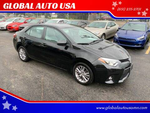2015 Toyota Corolla for sale at GLOBAL AUTO USA in Saint Paul MN