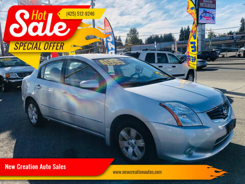 2010 Nissan Sentra for sale at New Creation Auto Sales in Everett WA