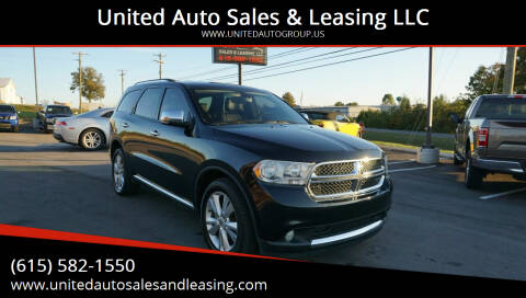 2013 Dodge Durango for sale at United Auto Sales & Leasing LLC in La Vergne TN