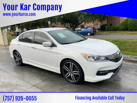 2017 Honda Accord for sale at Your Kar Company in Norfolk VA