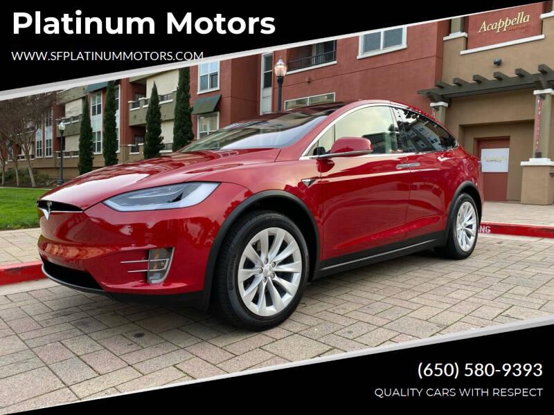 2018 Tesla Model X for sale at Platinum Motors in San Bruno CA
