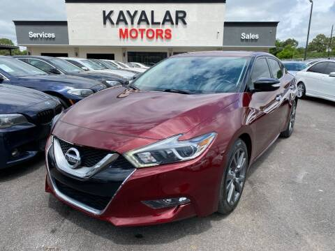 2017 Nissan Maxima for sale at KAYALAR MOTORS in Houston TX