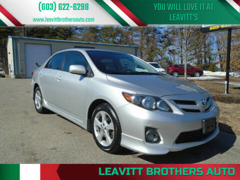 2012 Toyota Corolla for sale at Leavitt Brothers Auto in Hooksett NH