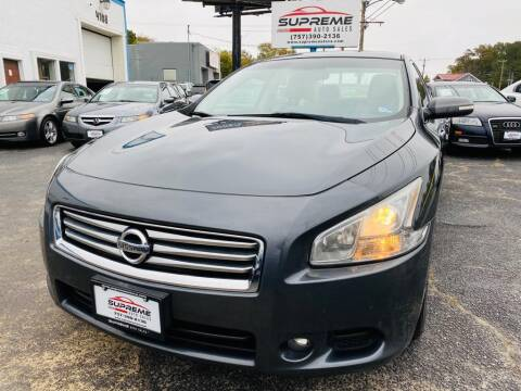 2012 Nissan Maxima for sale at Supreme Auto Sales in Chesapeake VA