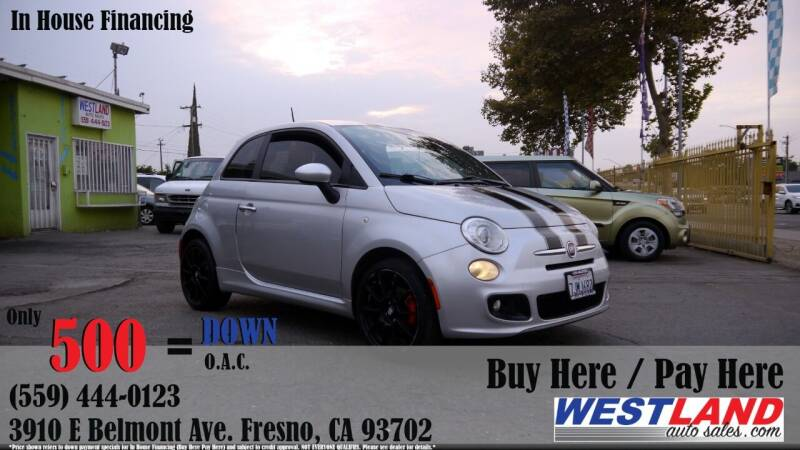 2012 FIAT 500 for sale at Westland Auto Sales in Fresno CA