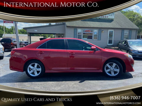 2013 Toyota Camry for sale at International Motor Co. in Saint Charles MO