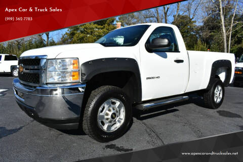 2012 Chevrolet Silverado 2500HD for sale at Apex Car & Truck Sales in Apex NC