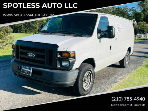 2012 Ford E-Series Cargo for sale at SPOTLESS AUTO LLC in San Antonio TX