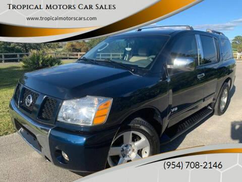 2006 Nissan Armada for sale at Tropical Motors Car Sales in Deerfield Beach FL