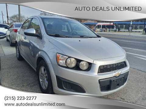 2013 Chevrolet Sonic for sale at AUTO DEALS UNLIMITED in Philadelphia PA