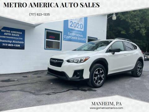 2018 Subaru Crosstrek for sale at METRO AMERICA AUTO SALES of Manheim in Manheim PA