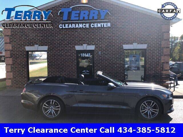2017 Ford Mustang for sale at Terry Clearance Center in Lynchburg VA