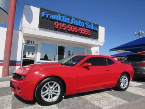 2013 Chevrolet Camaro for sale at Franklin Auto Sales in El Paso TX