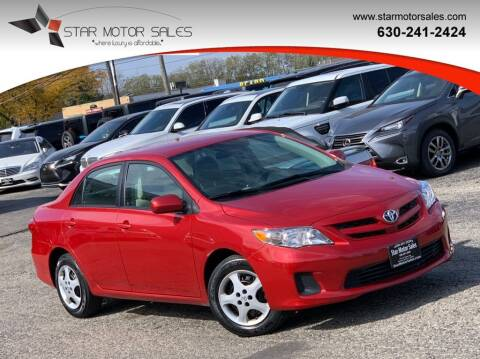 2011 Toyota Corolla for sale at Star Motor Sales in Downers Grove IL