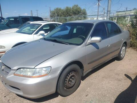 1998 Honda Accord for sale at PYRAMID MOTORS - Fountain Lot in Fountain CO
