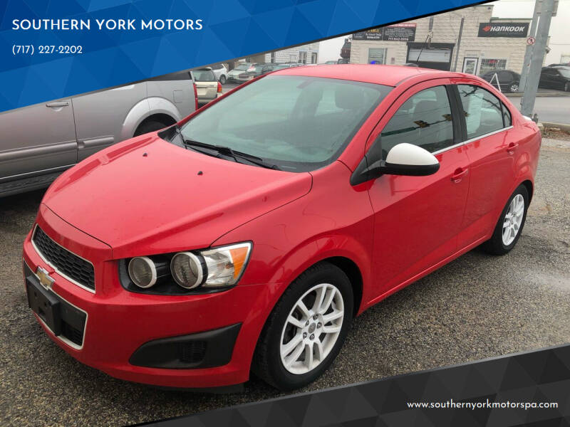 2015 Chevrolet Sonic for sale at SOUTHERN YORK MOTORS in New Freedom PA