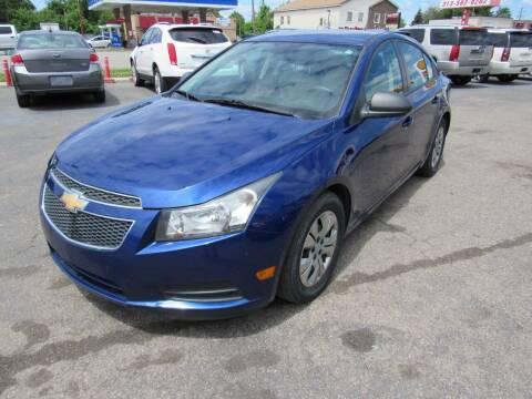 2013 Chevrolet Cruze for sale at PLATINUM AUTO SALES in Dearborn MI