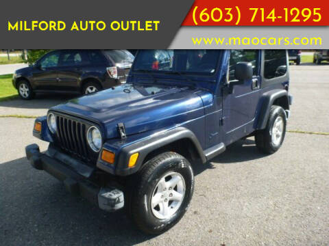 2004 Jeep Wrangler for sale at Milford Auto Outlet in Milford NH