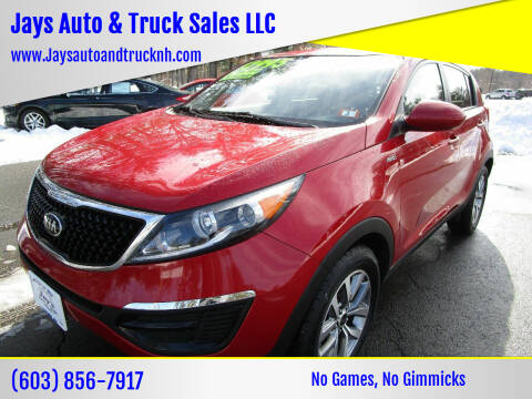 2015 Kia Sportage for sale at Jays Auto & Truck Sales LLC in Loudon NH