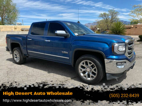 2018 GMC Sierra 1500 for sale at High Desert Auto Wholesale in Albuquerque NM