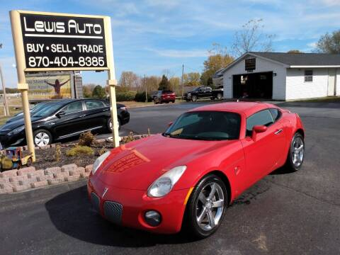 2009 Pontiac Solstice for sale at LEWIS AUTO in Mountain Home AR