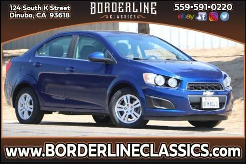2013 Chevrolet Sonic for sale at Borderline Classics in Dinuba CA