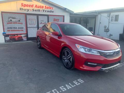 2016 Honda Accord for sale at Speed Auto Sales in El Cajon CA