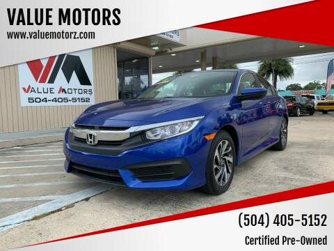 2016 Honda Civic for sale at VALUE MOTORS in Kenner LA