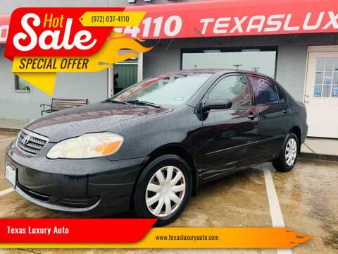 2007 Toyota Corolla for sale at Texas Luxury Auto in Cedar Hill TX