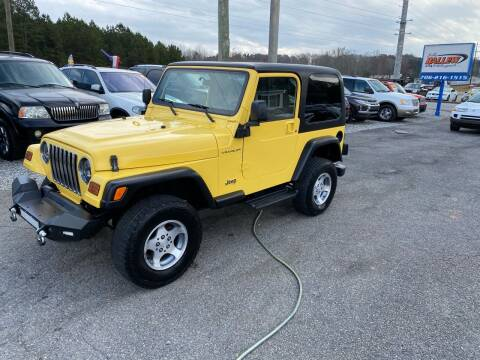 2000 Jeep Wrangler for sale at Billy Ballew Motorsports in Dawsonville GA