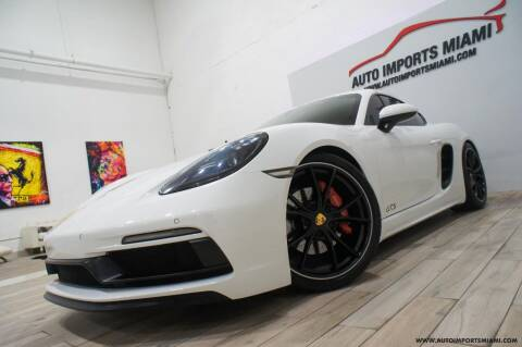 2018 Porsche 718 Cayman for sale at AUTO IMPORTS MIAMI in Fort Lauderdale FL