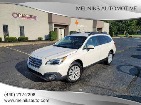 2016 Subaru Outback for sale at Melniks Automotive in Berea OH