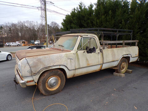 1972 Dodge D250 Pickup for sale at Cambria Cars in Mooresville NC