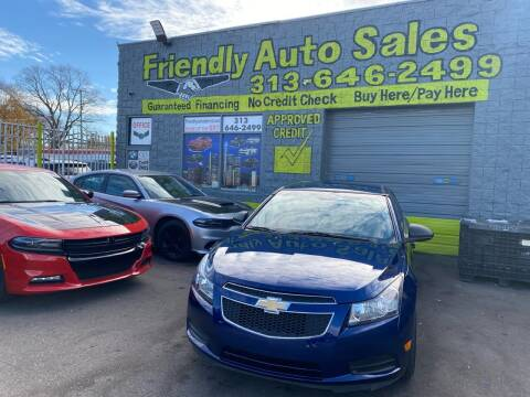 2012 Chevrolet Cruze for sale at Friendly Auto Sales in Detroit MI