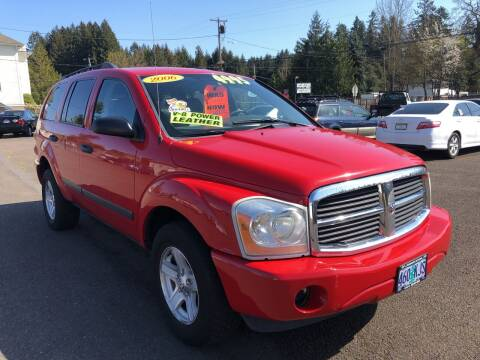 2006 Dodge Durango for sale at Freeborn Motors in Lafayette, OR