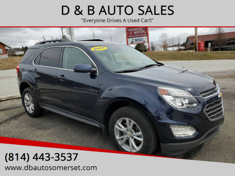 2017 Chevrolet Equinox for sale at D & B AUTO SALES in Somerset PA