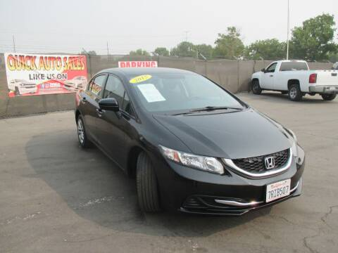 2015 Honda Civic for sale at Quick Auto Sales in Modesto CA