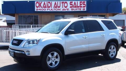 2010 GMC Acadia for sale at Okaidi Auto Sales in Sacramento CA