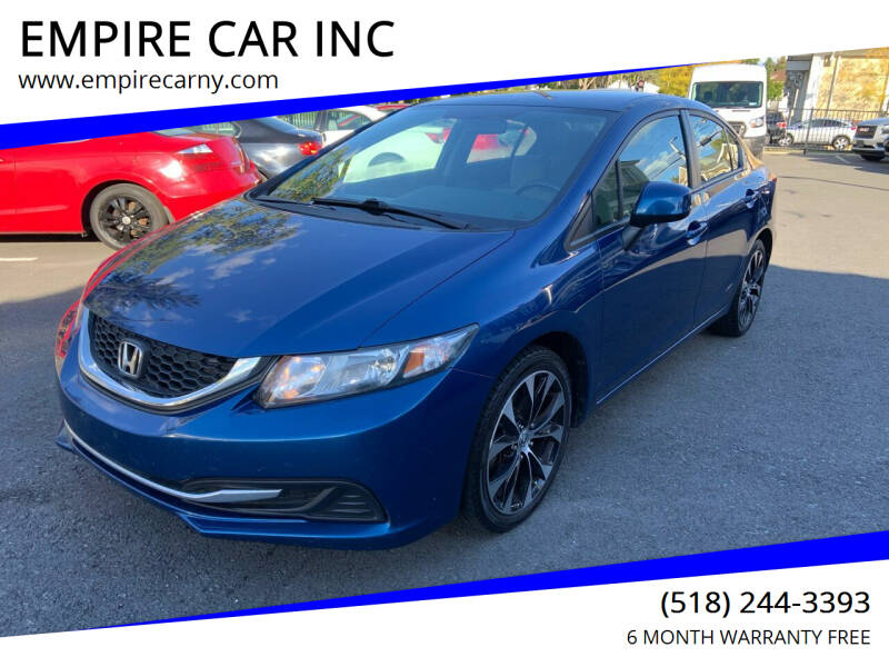 2013 Honda Civic for sale at EMPIRE CAR INC in Troy NY