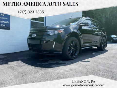 2012 Ford Edge for sale at METRO AMERICA AUTO SALES of Lebanon in Lebanon PA