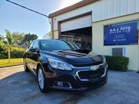 2014 Chevrolet Malibu for sale at O & J Auto Sales in Royal Palm Beach FL