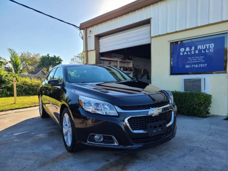 2014 Chevrolet Malibu for sale at O & J Auto Sales in Royal Palm Beach FL