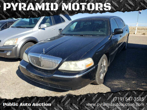 2011 Lincoln Town Car for sale at PYRAMID MOTORS - Pueblo Lot in Pueblo CO