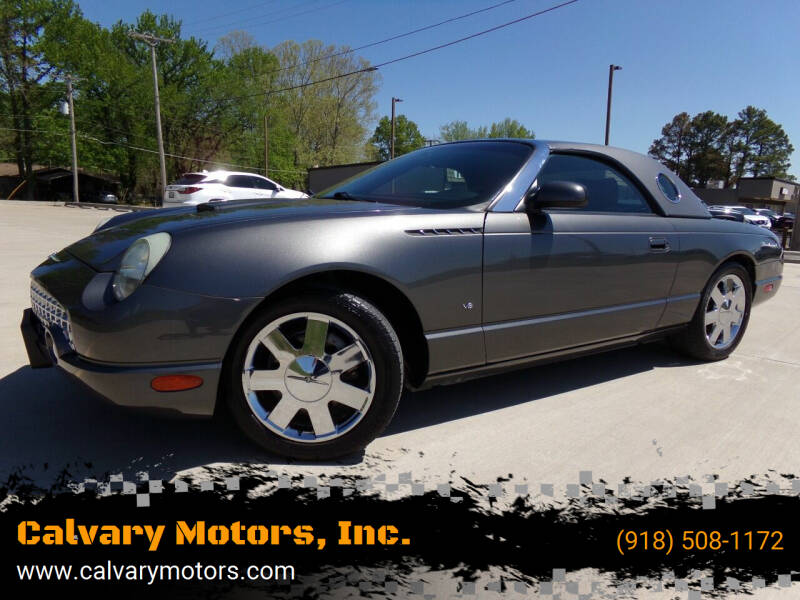 2003 Ford Thunderbird for sale at Calvary Motors, Inc. in Bixby OK