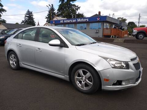 2012 Chevrolet Cruze for sale at All American Motors in Tacoma WA